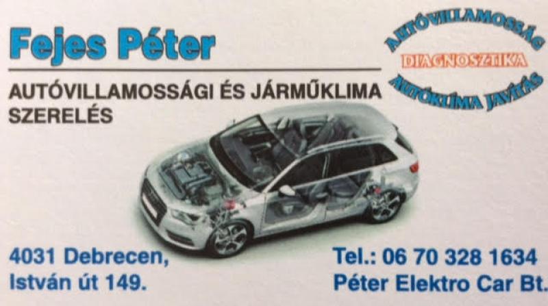 Autóvillamossági Szerviz Debrecen