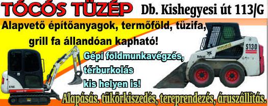 Tüzép Debrecen, Építőanyag, Tüzifa - Tócós Tüzép